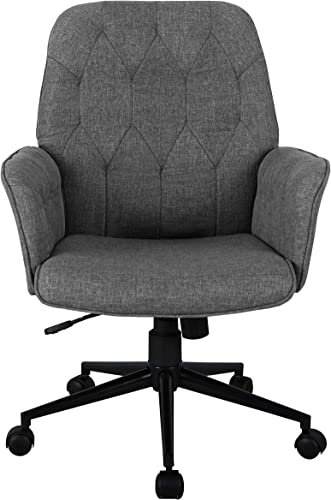 Techni Mobili Executive Modern Upholstered Tufted Office Chair