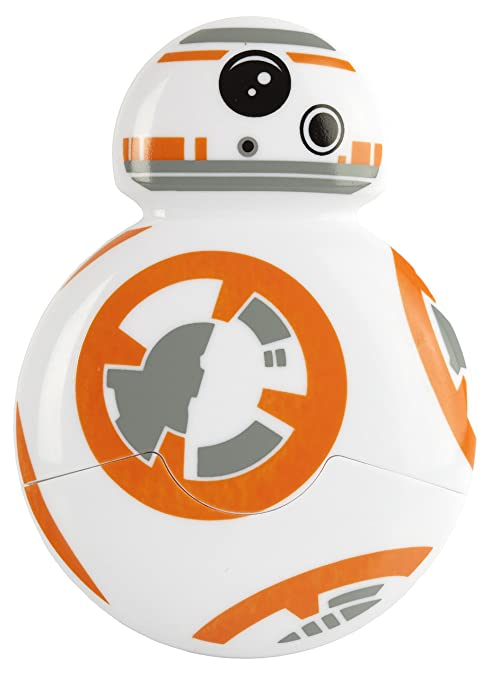Star Wars Cortador de Pizza BB-8, Color Blanco/Naranja, 8 x