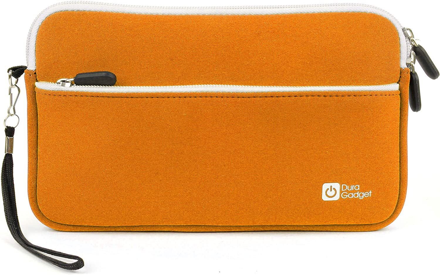 DURAGADGET Premium Quality Water Resistant Travel Pouch-Style Case in Orange Neoprene - Compatible with Dell Venue 8 16GB Android 4.2 Tablet (Black)