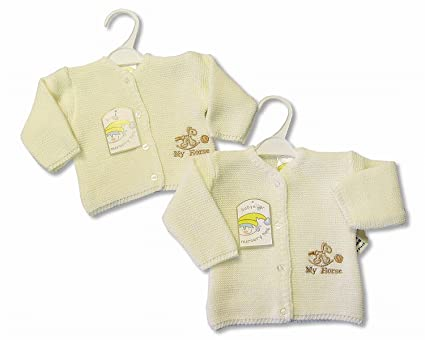 Bebé de punto Cardigan de color crema crema Talla:recién nacido ...