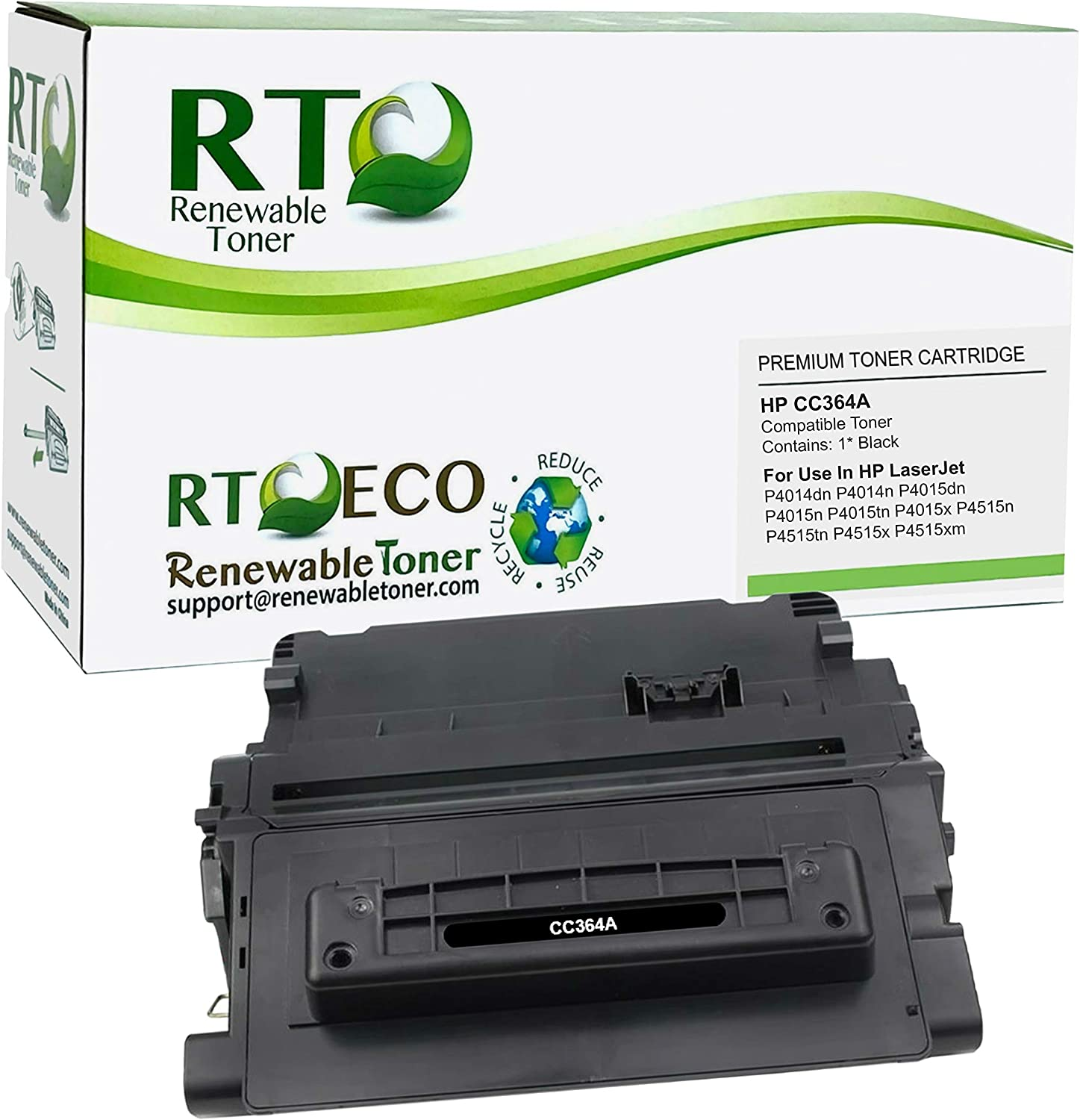 Renewable Toner Compatible Toner Cartridge Replacement HP 64A CC364A for LaserJet P4014 P4015 P4515