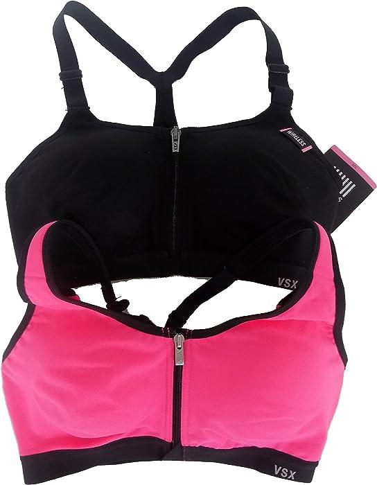 5cc578ad5 Amazon.com  Victoria s Secret Knockout Front Close Sport Bra Bundle of 2 NWT  32C  Clothing