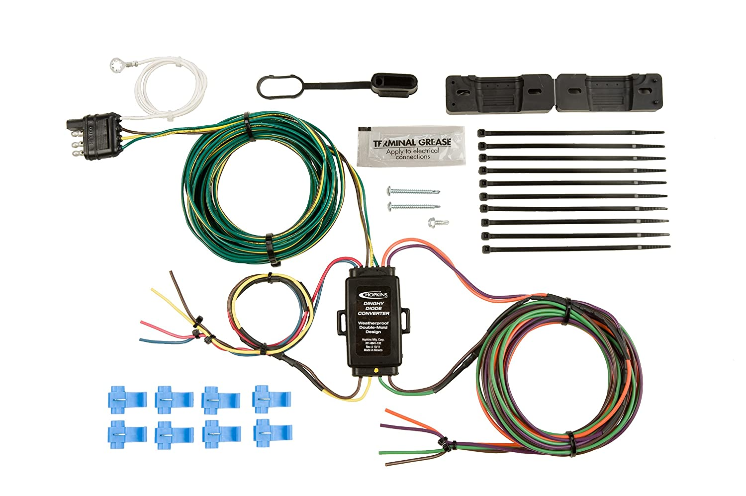Hopkins 55999 Universal Towed Vehicle Wiring Kit Automotive Jeep Jk Trailer Harness Install