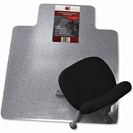 SumacLife Office/Home Clear Vinyl Floor Chair Mat 45u0026quot; X 53u0026quot;  Rectangler With