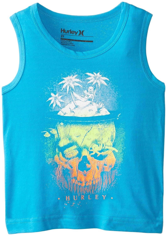 Hurley Little Boys' Island Skull Tank Blue Lagoon 4 Hurley Boys