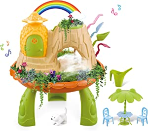 WK- Foggy Garden Pineapple Cottage, DIY Assembly Play Set, Outdoor and Indoor Toys for Kids, Spray&Magical&Planting Toys, with Gardening Tools, Grow and Create Your Own Garden, Gift for Girls&Boys