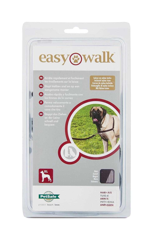 XL Anti-Traction avec 4 points de R/églage PetSafe - R/ésistant Noir Harnais pour Tr/ès Grand Chien Easy Walk
