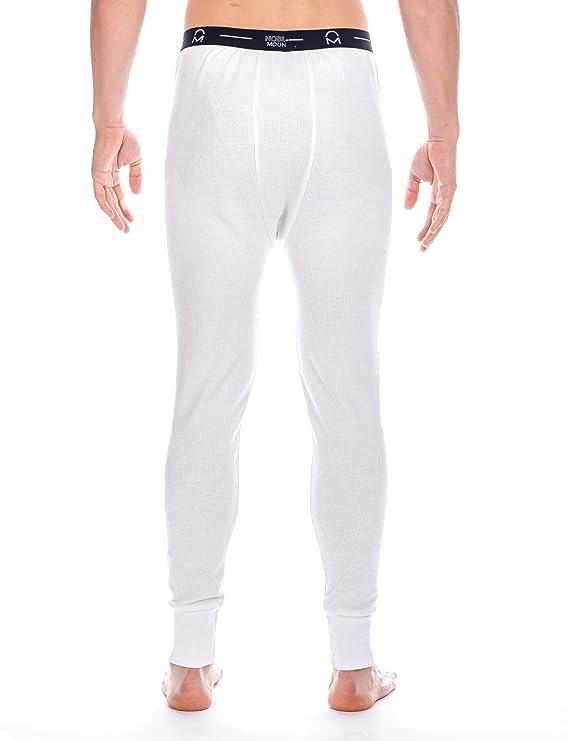 Frío Extremo Pantalón Térmico para Hombre de Waffle Knit - Blanco -M: Amazon.es: Ropa y accesorios