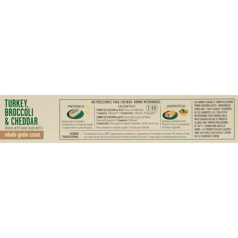 Lean Pockets, Turkey, Broccoli & Cheese, 2 sandwiches, 9 oz (Frozen): Amazon.com: Grocery & Gourmet Food