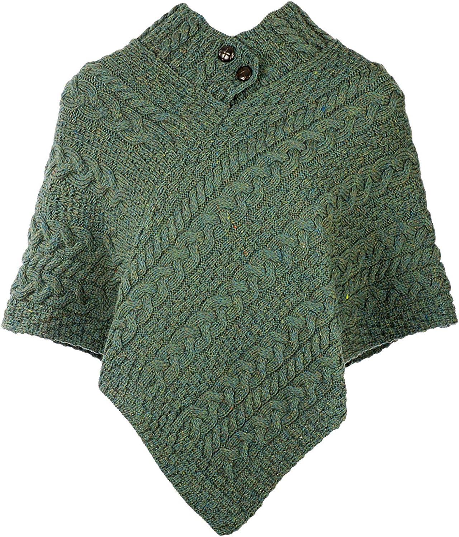 One Size Carraig Donn 100/% Irish Merino Wool Ladies Poncho