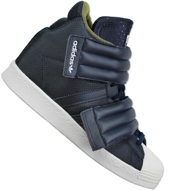 Adidas Superstar Fino 2strap W, Leggenda Ink/Navy/Bianco, 7.5 Us -