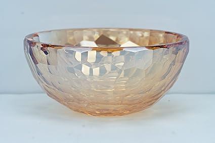 Amazon Oleg Cassini Golden Amber Round Crystal Bowl Broadway