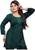 India Tunic Top Kurti Womens Printed Blouse Indian Clothes