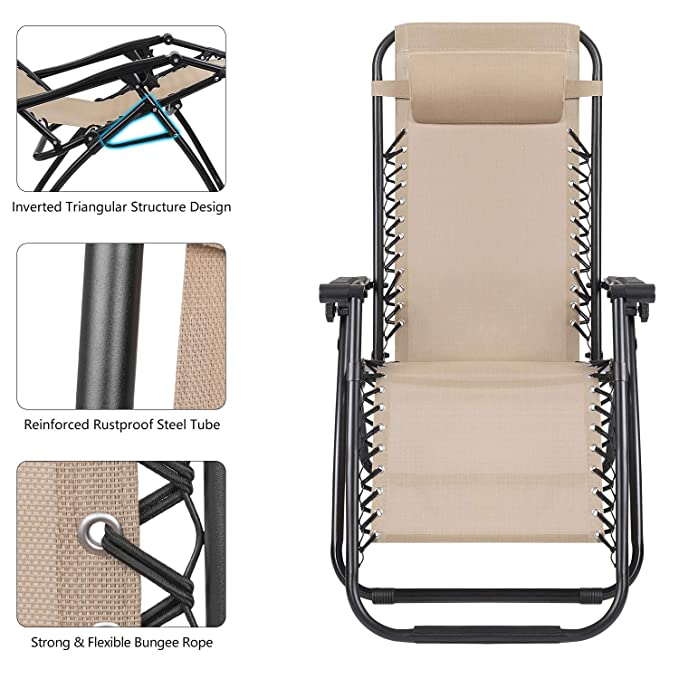 Amazon.com: Devoko Patio Zero Gravity - Silla de patio ...