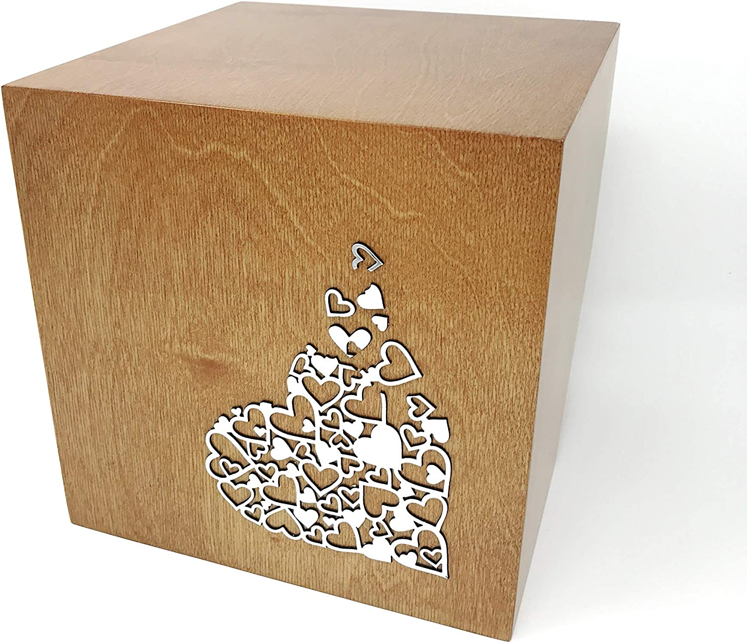 Tilted Cube Cremation Urn for Ashes Modern Urn Memorial Funeral Container Design Urn