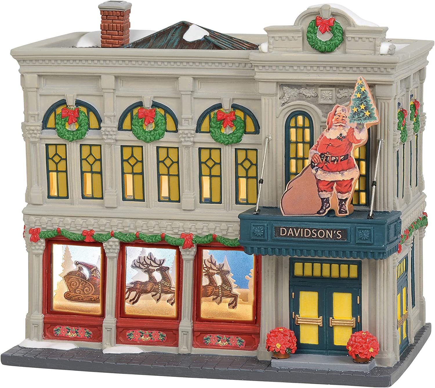 Department 56 Christmas in The City Village Davidson's Department Store Lit Building, 7.48 Inch, Multicolor
