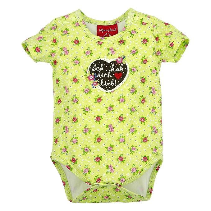 BONDI Body Alloverdruck /´Schatzi/´ Tracht Baby M/ädchen Artikel-Nr.86113