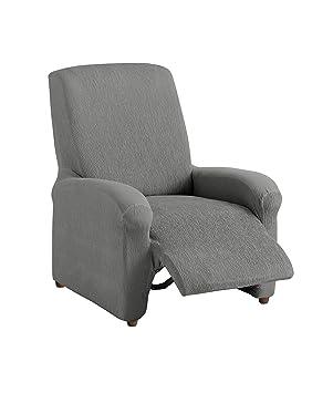 Textilhome Housse Fauteuil Relax Compl Te Teide Elastique Taille 1 Places 70 A 100cm Couleur Grey