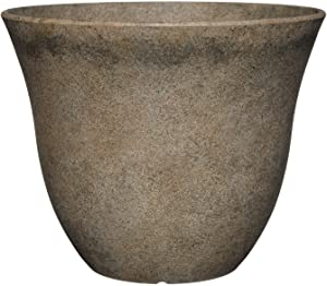 "Classic Home and Garden Patio Pot Honeysuckle Planter, 15"", Fossil Stone"