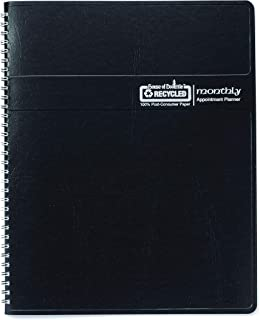 product image for House of Doolittle 2020 Calendar Planner, Monthly, Black Cover, 6.9 x 8.75 Inches, December - January (HOD262602-20)