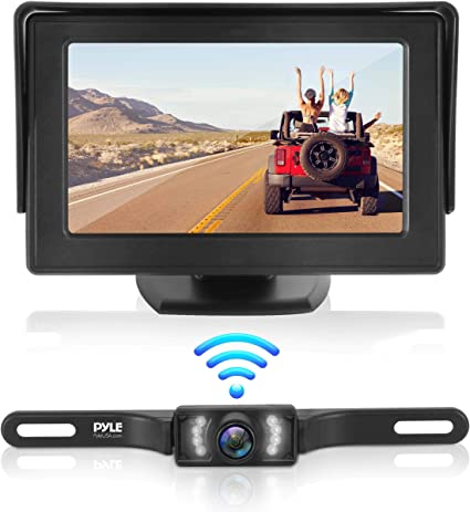 "4.3/"" LCD Monitor Wireless Vehicle Backup Camera Rear View System Night Vision UR"