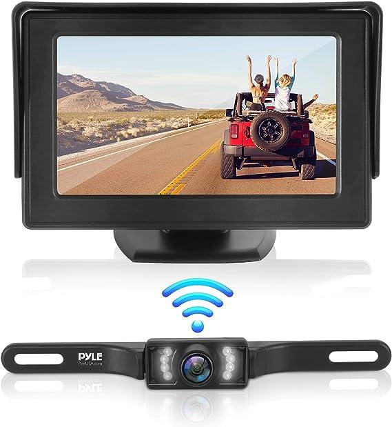 """Car Backup Camera Rear View Parking Reverse Kit Night Vision w// 4.3/"""" LCD Monitor"""