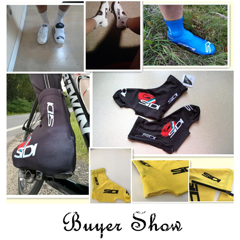 TOOGOO Velo Etanche a la poussiere Cyclisme Galoche VTT Velo Cyclisme Couvre-Chaussure Sports Accessoires Equitation Pro Route Courses S Jaune