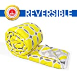 Divine Casa Microfibre Comforter/Blanket/Quilt/Duvet Lightweight, All Weather Single Comforter, Abstract- Yellow and Grey
