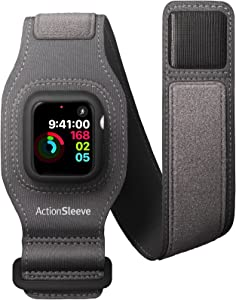 Twelve South ActionSleeve 2 for Apple Watch 40mm | Updated Protective Armband to Free Your Wrist for Sports or Activities (Grey)