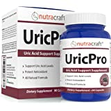 UricPro Uric Acid Cleanse Supplement With Black Cherry Extract, Devils Claw & White Willow Bark - Natural Inflammation Support - Made in USA - 90 Capsules