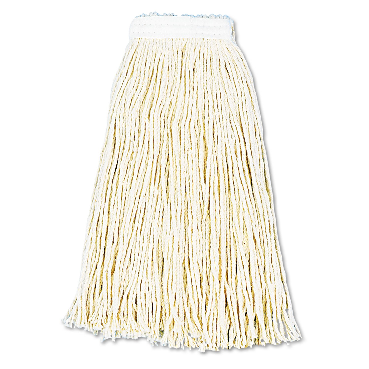 Boardwalk 216CCT Premium Cut-End Wet Mop Heads, Cotton, 16oz, White (Case of 12)