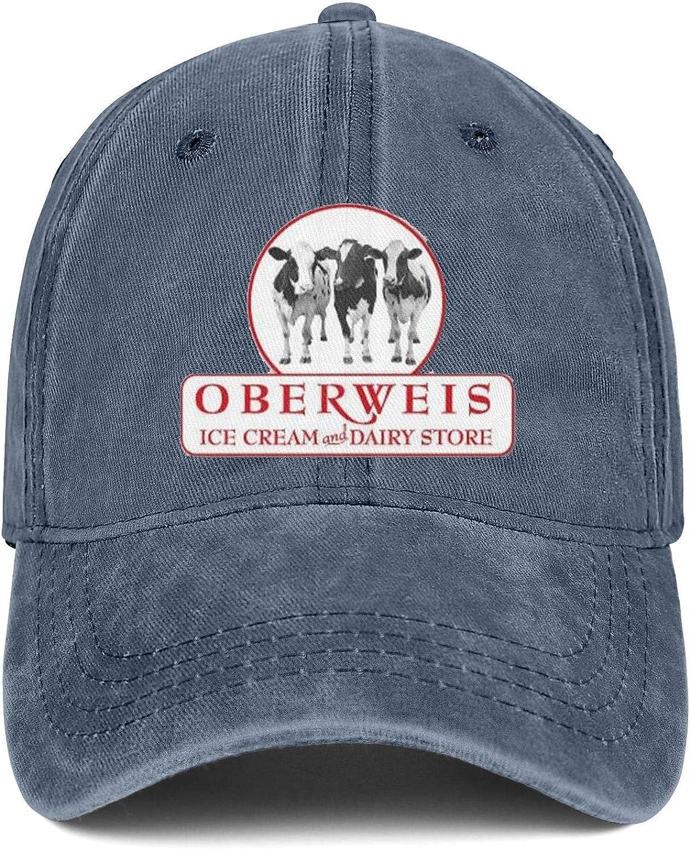 Wudo Unisex Oberweis Dairy Hat Pretty Trucker Hat Baseball Cap Adjustable Cowboy Hat