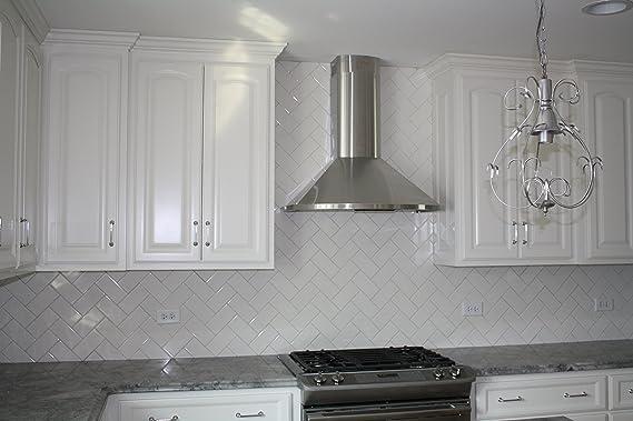 White Ceramic Subway Tile (80 pieces - Box of 10 sq.ft.)
