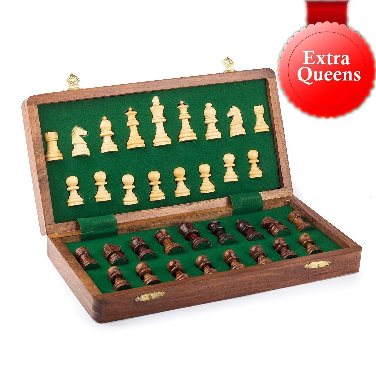Best Chess Set Sale - BKRAFT4U 10 x 10'' Rosewood Travel Chess Game Board - Premium Handmade Wooden Foldable Magnetic Chess Game Board with Storage Slots, 10 inch. Gifts from India. by BKRAFT4U (Image #5)