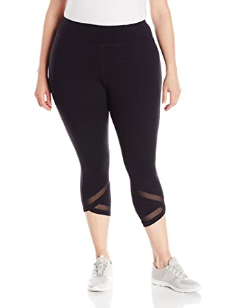 a208e7866c Calvin Klein Performance Women's Plus Size High Waist Crop Legging, Black,  ...