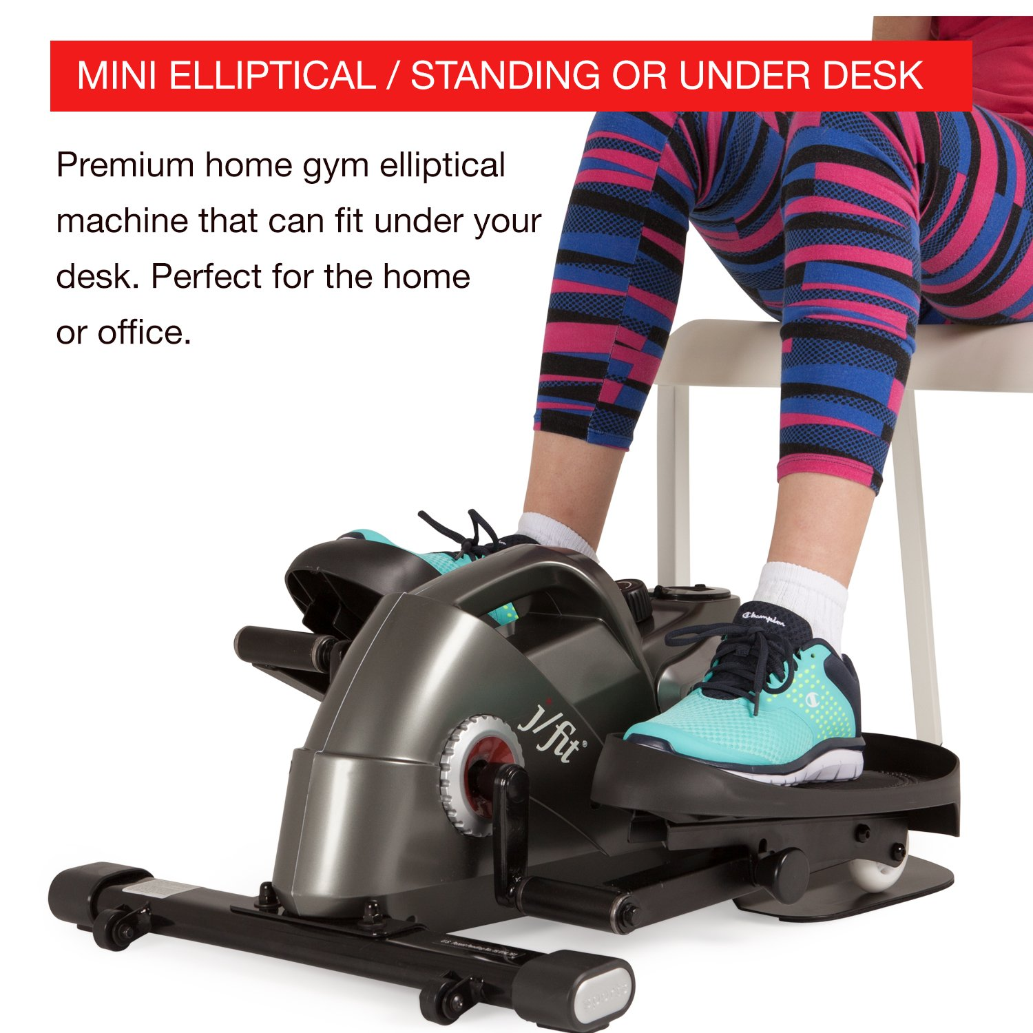 High Quality Amazon.com : J/Fit Under Desk U0026 Stand Up Mini Elliptical, Pewter : Sports U0026  Outdoors