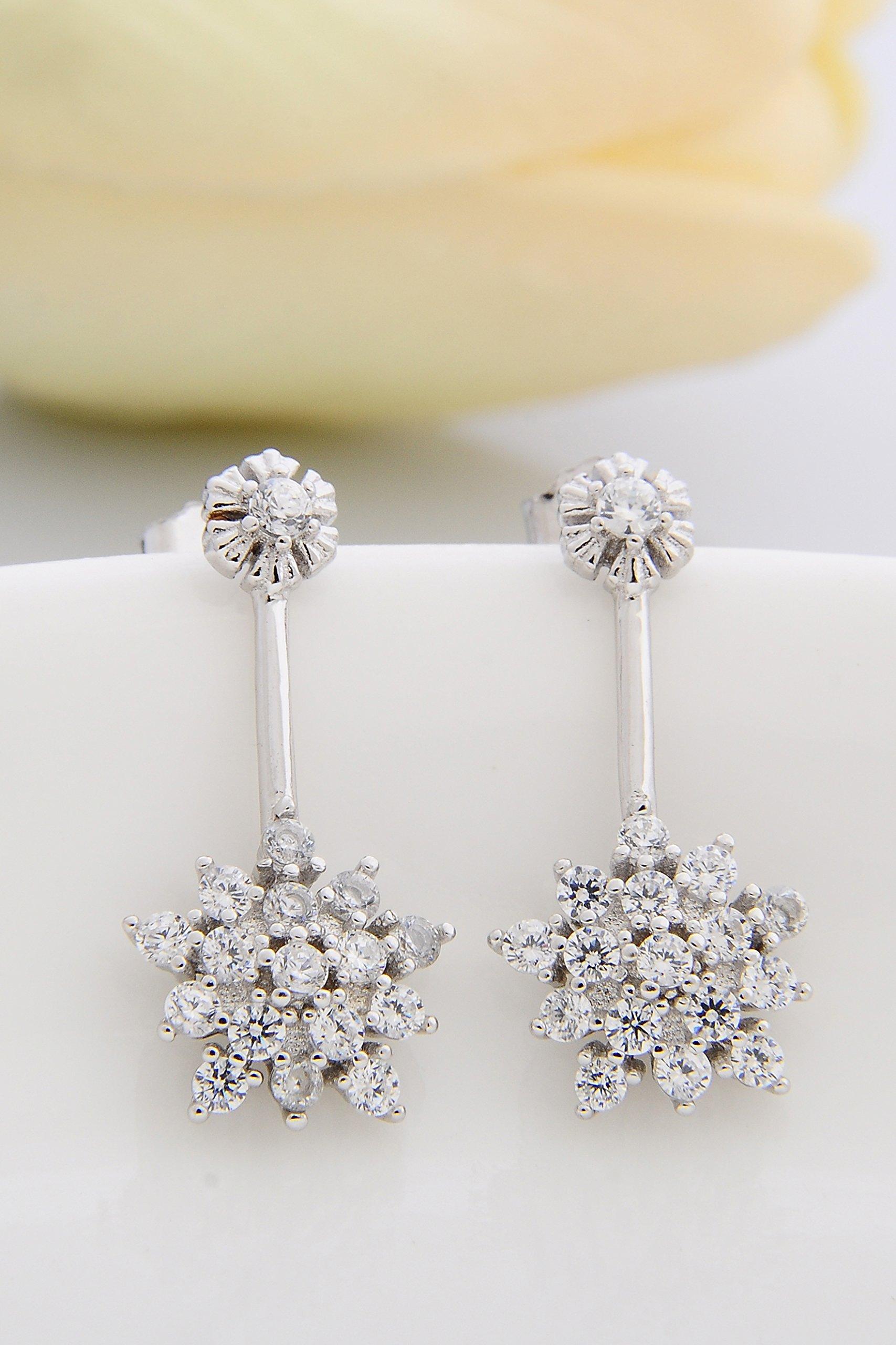 Thai Love You Snowflake Earrings earings Dangler Eardrop s925 Sterling Silver Women Girls Personality Elegant Woman Presents Unique Fashion Jewelry
