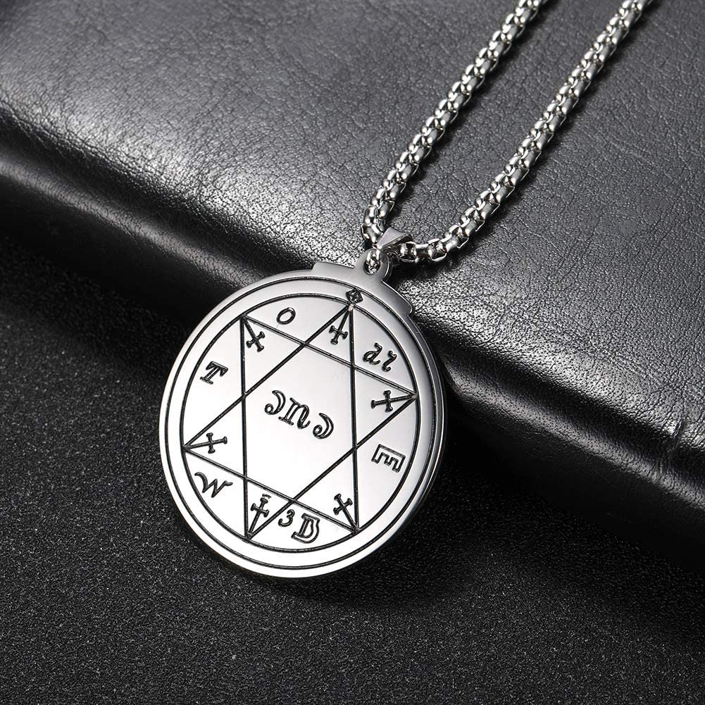 23/'/' Box Chain cooltime Stainless Steel Star of David Pendant Necklace for Men