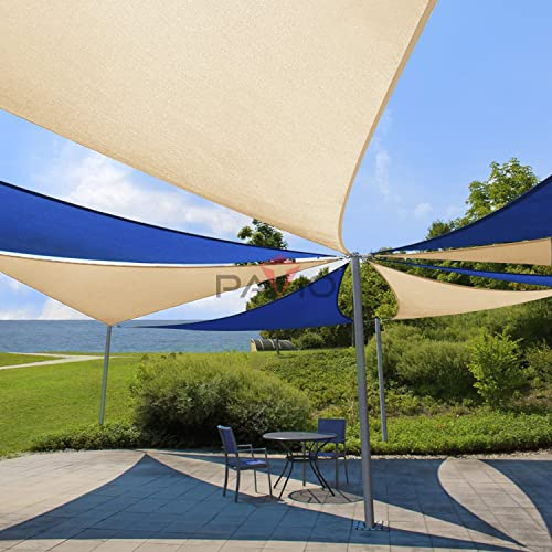 Patio Paradise Beige 18x28x33 Sun Shade Sail Right Triangle Canopy, Permeable UV Block Fabric Durable Outdoor, Customized Available