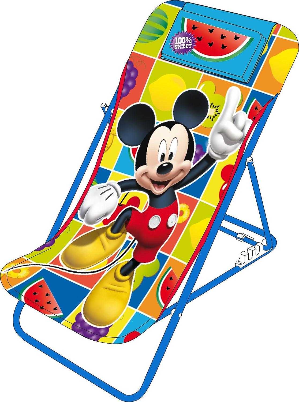 Arditex wd7868–casa del giardino–sedia da giardino/spiaggia regolabile–Mickey Mouse–44x 66x 61cm