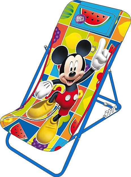 Klappstuhl camping kinder  Liegestuhl Strandstuhl Mickey Mouse Kinder Strandliege Sonnenstuhl ...