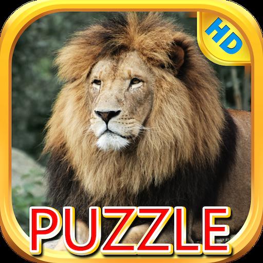Solve Scramble Squares (Lions and Big Cats - Puzzle Slide)