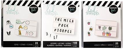 American Crafts Heidi Swapp Lightbox 100Piece Mega Pack Black