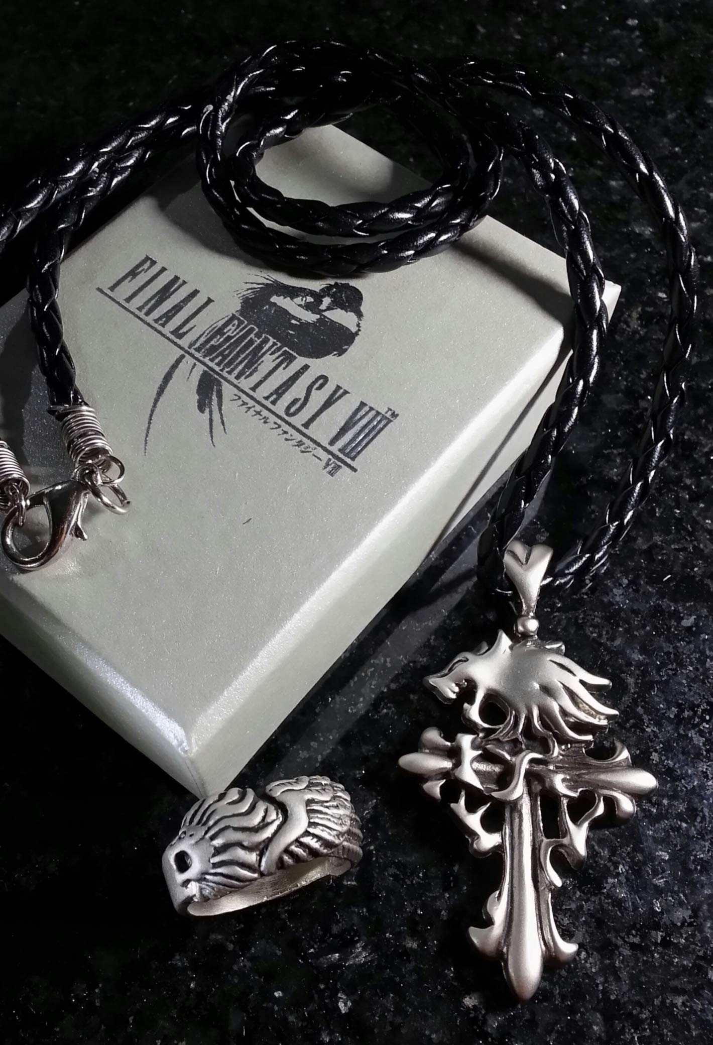 Final Fantasy VIII Squall Griever Necklace & Ring | FF8 Kingdom Hearts Cosplay Dissidia Cloud Serah Anime
