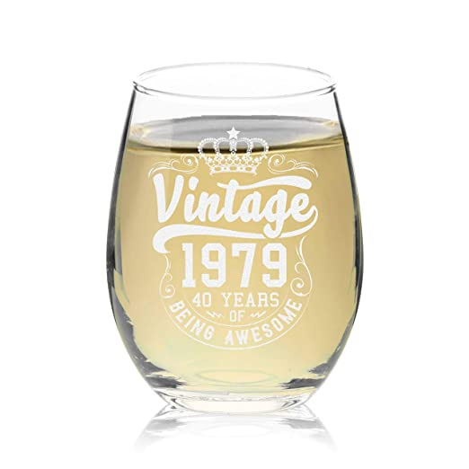 Veracco Crown - Copa de vino vintage de 40 años de ser ...