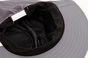 YJZQ Homme Casquette Chapeau de Soleil Chapeau de P/êche Anti-UV Casquette Homme avec Prot/ège Nuque Chapeau R/églable Large Bord avec Cape de Maille Cap 55-60CM