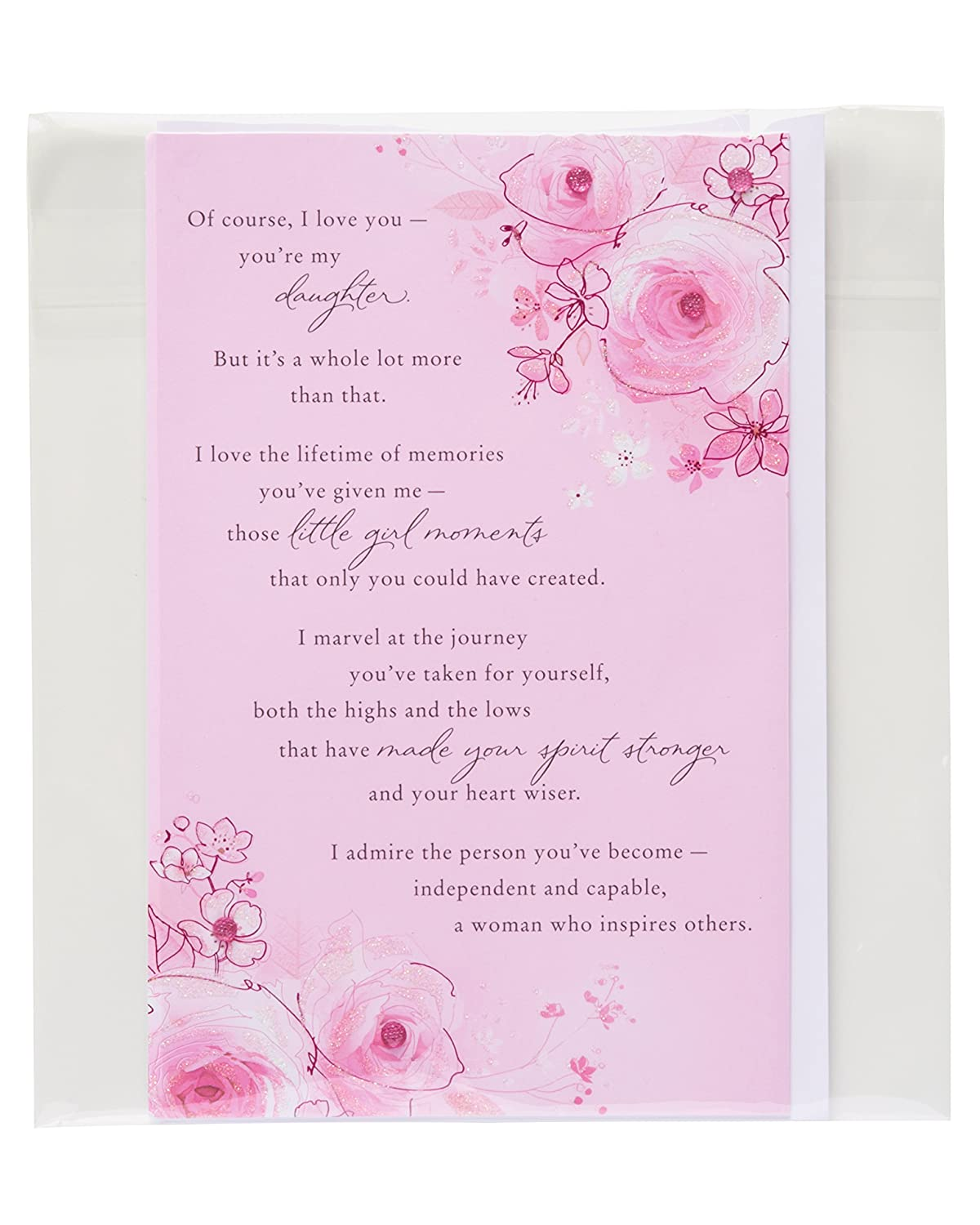 Amazon American Greetings Sentimental Birthday Card for Daughter with Glitter American Greetings fice Products