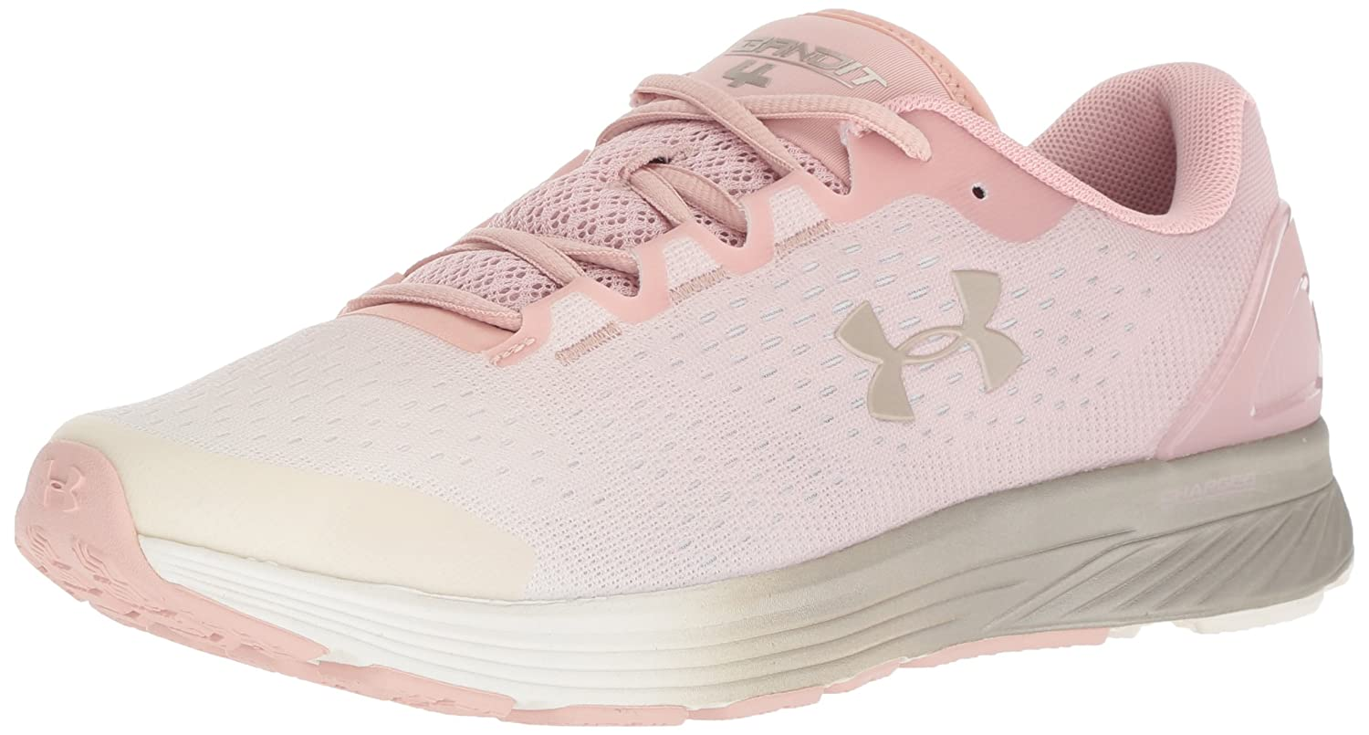 Under Armour Women's Charged Bandit 4 Running Shoe B076RT3C7C 9.5 M US|Flushed Pink (603)/Ivory
