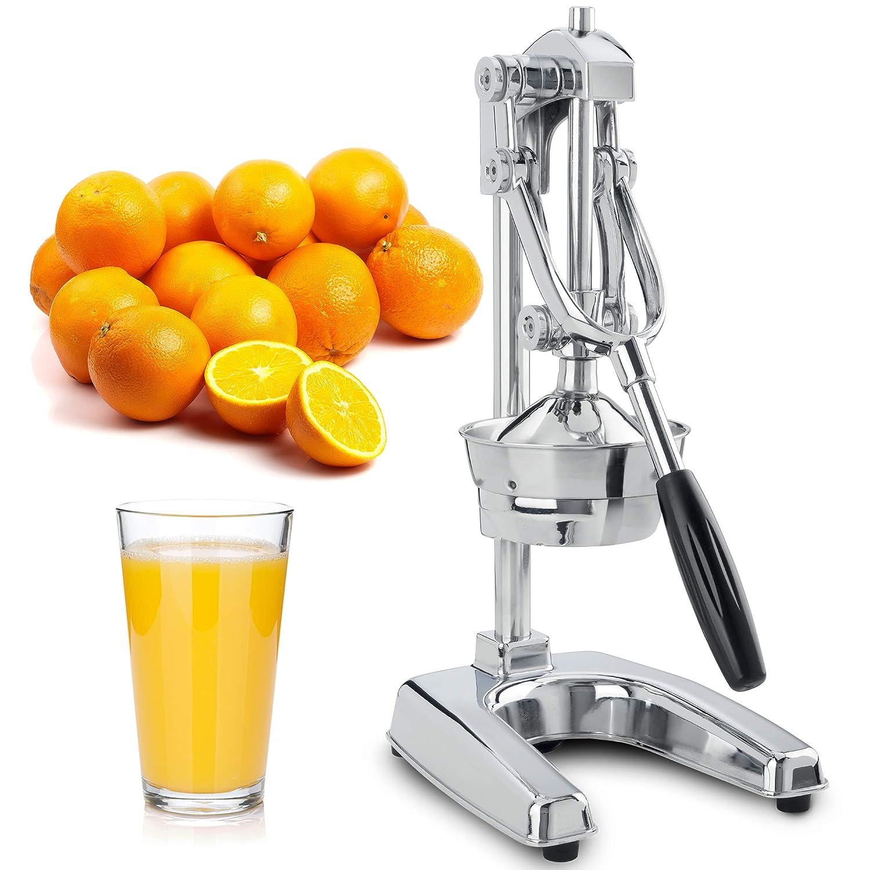 Chrome Finish Manual Citrus Press and Orange Squeezer Metal Lemon ...