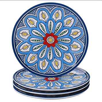 Asst Designs Multicolor Certified International Corp 22721SET4 a Woodland Walk 8.5 Salad//Dessert Plates Set of 4